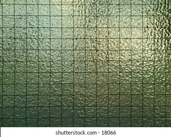 Macro of reinforced pane of glass