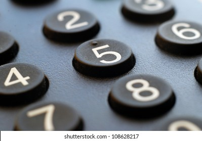 Macro of remote keypad,business background