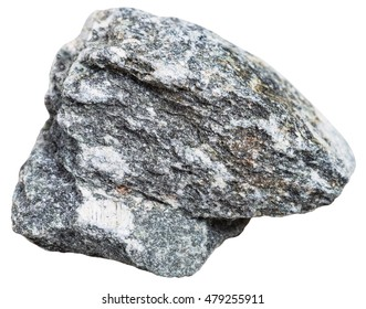 macro shooting of metamorphic rock specimens - natural soapstone (steatite, soaprock) mineral isolated on white background