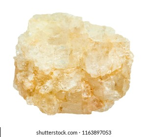 macro shooting of natural mineral - rough Topaz stone isolated on white backgroung from Ilmenskoe deposit at South Ural Mountains
