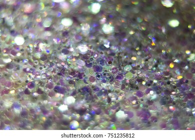 Macro Shot of Assorted Colorful Glitter