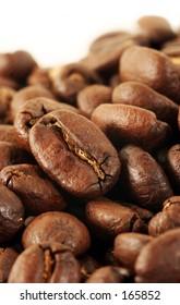 Macro shot of coffeebeans
