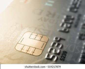 Macro shot with credit card