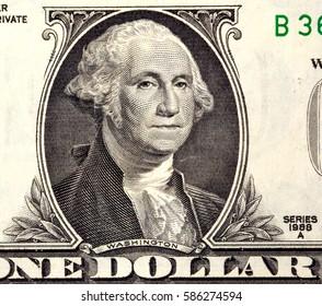 Macro shot of dollar