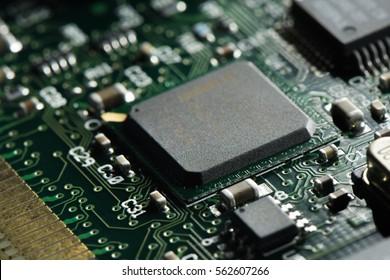 Macro shot of an integrated circuit