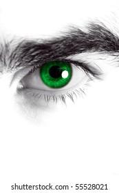 Macro shot of man's eye, high key edition