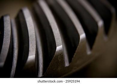 Macro shot of a metal auto part
