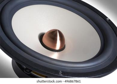 macro shot of a modern loudspeaker