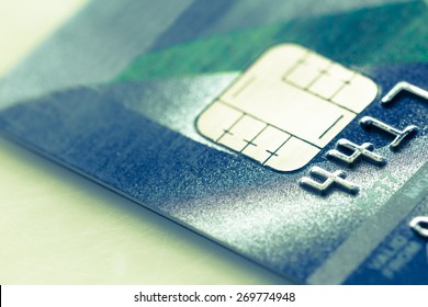 Macro Shot And Selective Focus On Credit Card : Filtered Process