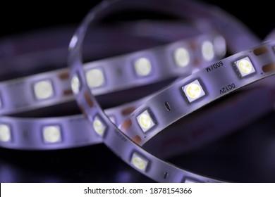 Macro shot of SMD 5050 LED chips