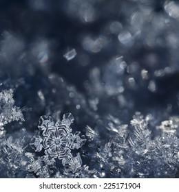 Macro shot from Snowflake