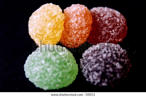 Macro shot of some Jelly Tots sweets