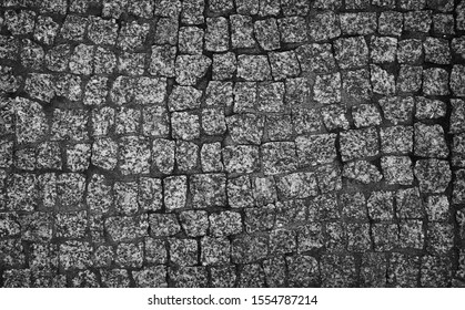 macro shot of the street bricks