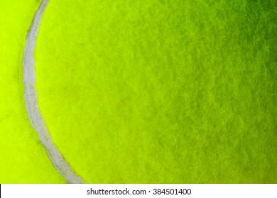 Macro shot of Tennis ball