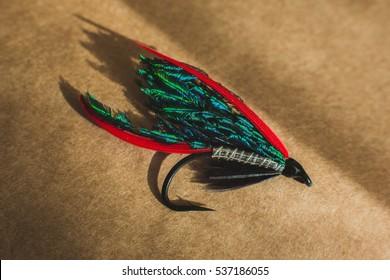Macro shot of a wet fly fishing fly, Alexandra
