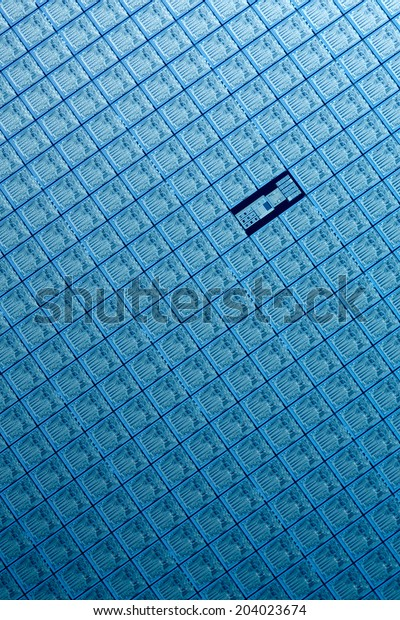 Macro of silicon wafers