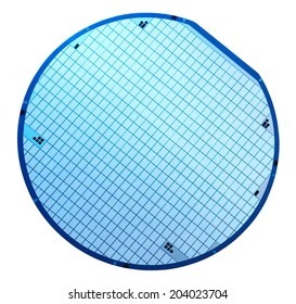 Macro of silicon wafers. Clipping path.