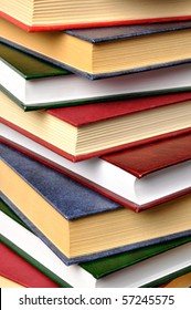 Macro of some books stack
