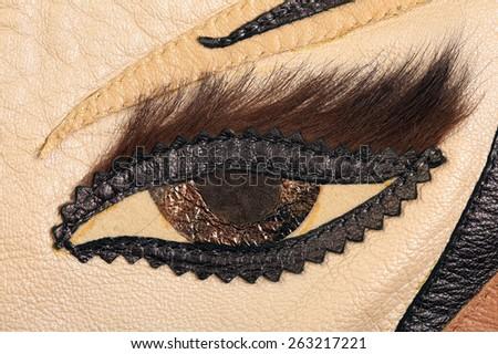 Macro texture brown leather applique form stock photo edit now