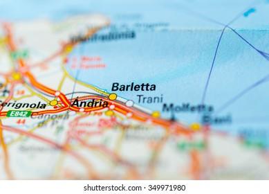 Barlettaandriatrani Map Stock Images RoyaltyFree Images