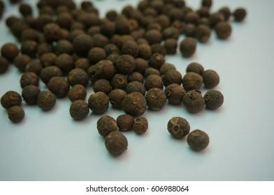 Macro view of Black Round Pepper