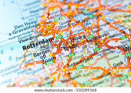Macro View Eindhoven Netherlands On Map Stock Photo (Edit Now ...