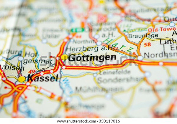 Map Of Germany Gottingen.Macro View Gottingen Germany On Map Stock Photo Edit Now 350119016