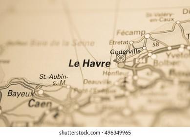 Le Havre Map Images Stock Photos Vectors Shutterstock