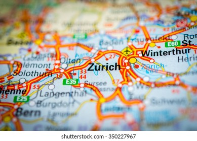 Zurich+map Images, Stock Photos & Vectors | Shutterstock