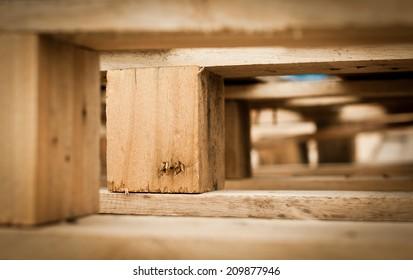 Macro of wood pallet  detail