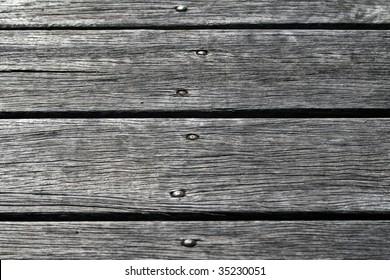 Macro Wooden Jetty Planks