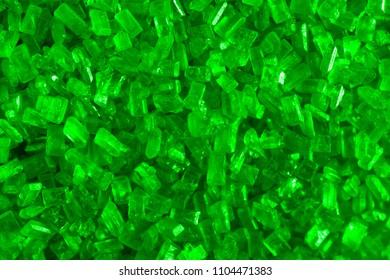 A macrophotograh of sugar crystals.