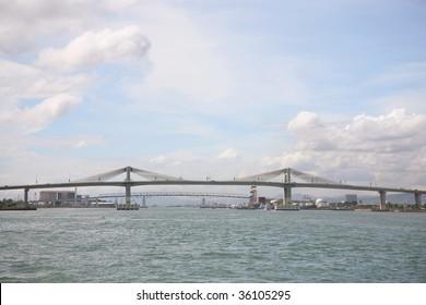 mactan bridge in Cebu, philippines