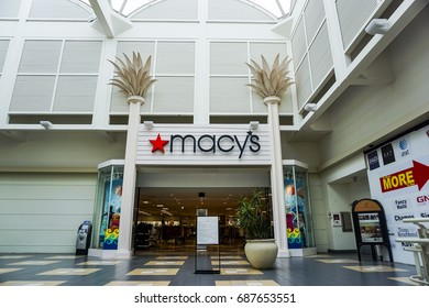 Macy's Department Store on July 23, 2017 . Macy's is located in Fashion Square Mall in Orlando, Florida.
