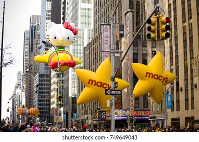 Macy's parade - Preparations before the parade. NEW YORK - NOVEMBER 21: Balloons are being inflated at the 86th Annual Macy's Thanksgiving Day Parade on November 21, 2012 in New York City