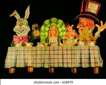 Mad Hatters Tea Party Blackpool Illuminations Display.