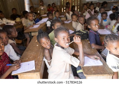 MADAGASCAR  OCTOBER 17.2016 Children in school,  October 17. 2016, Madagascar