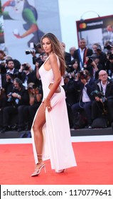 Madalina Ghenea walks the red carpet ahead of the 'Suspiria' screening during the 75th Venice Film Festival at Sala Grande on September 1, 2018 in Venice, Italy.