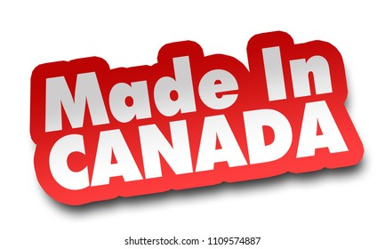 made in canada concept 3d illustration isolated on white background