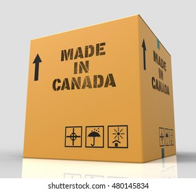 Made In Canada Meaning Store Canadian Production 3d Rendering