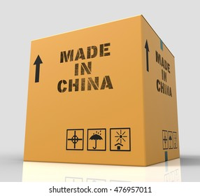 Made In China Indicating Goods And 3d Rendering