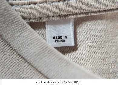 """Made in China"" on label of t-shirt"