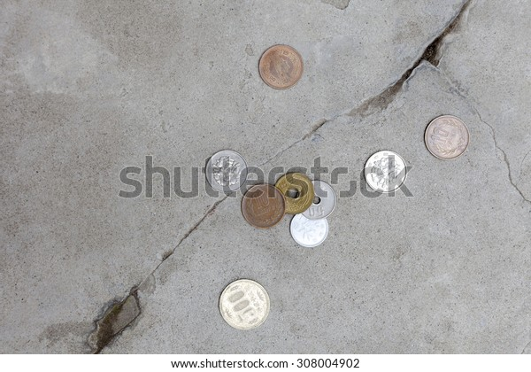 I made a coin be scattered on a road