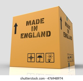 Made In England Meaning British Product 3d Rendering