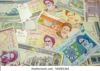 Made the Iranian Rial (IRR) banknotes from Iran as the background