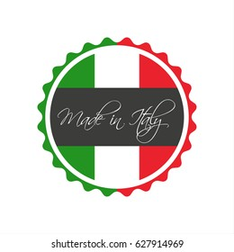 Made in Italy symbol, italian sticker, symbol isolated on a white background (Vector version is also available in my portfolio, ID 537824461)