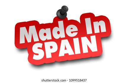 made in spain concept 3d illustration isolated on white background