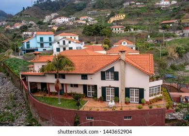 Madeira island - Jardim da Serra village panoramic view