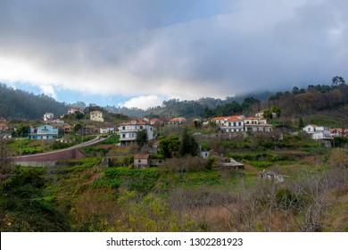 Madeira island Portugal Jardim da Serra  village