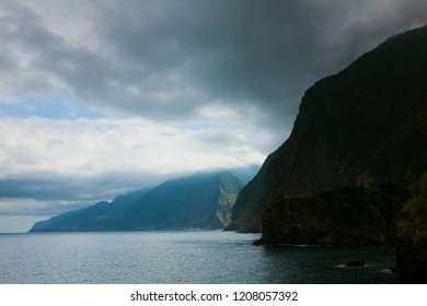 Madeira island from Seixal, Madeira, Portugal
